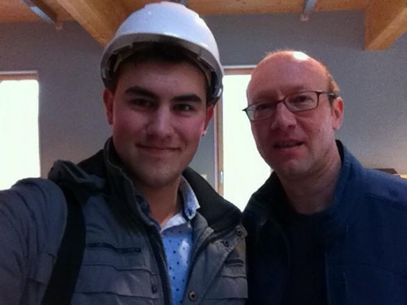 Jens Mibus und ich im Besucherzentrum Felslabor Mont Terri Foto: Oliver Hösli