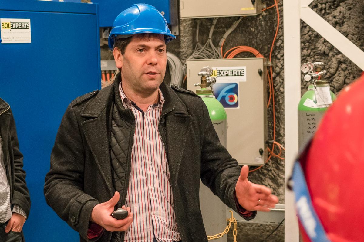 Nagra-Bauingenieur Benoit Garitte