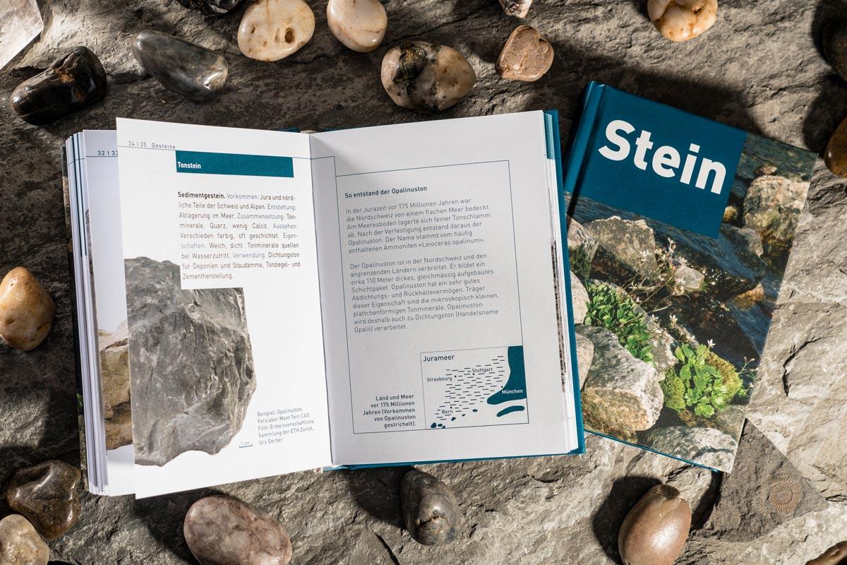 Aufgeklappt: Das Taschenbuch Stein der Nagra