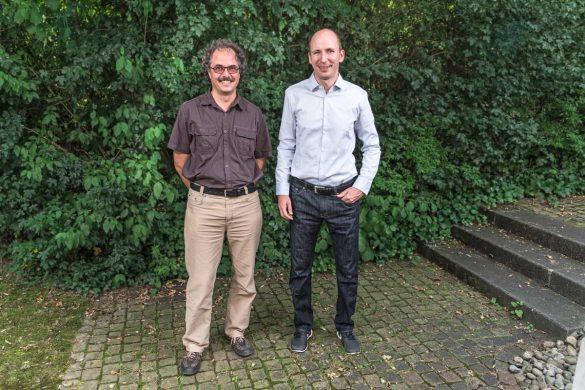 Oliver Moser (links) und Fabrice Bachmann (rechts) die Ansprechpartner der Nagra für die Standortregionen Jura Ost respektive Nördlich Lägern.
