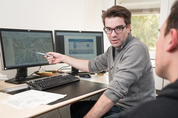 Andreas von der Dunk, Geoinformatiker im Ressort Datenmanagement der Nagra