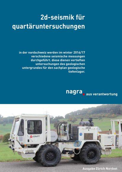 Flyer zur 2D-Seismik für Quartäruntersuchungen in Zürich Nordost