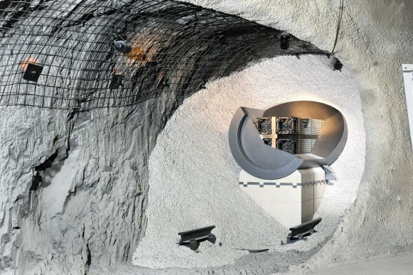 Das Endlagermodell im Felslabor Mont Terri zeigt, wie die Behälter mit hochaktiven Abfällen dereinst in Stollen am Tiefenlagerstandort eingelagert werden sollen.