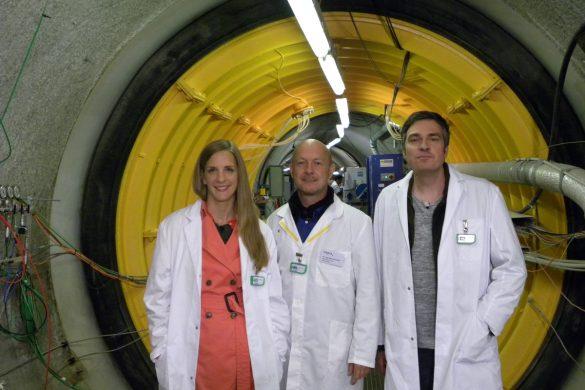 Drei Leute im Esperiment
